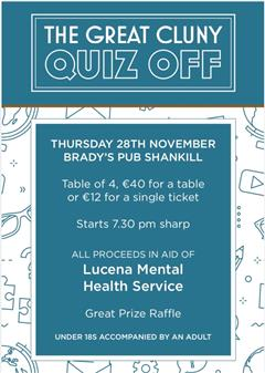 The Great Cluny Quiz Off - Charity Event