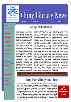 Library Newsletter - Summer 2016