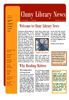 Library newsletter - Spring 2012