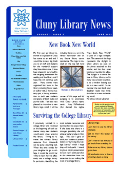 Library newsletter - Summer 2012