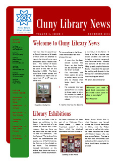 Library newsletter - Winter 2012
